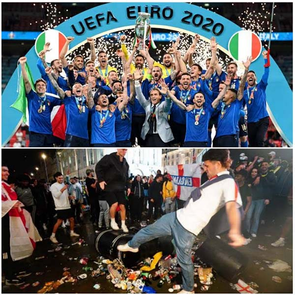 Wembley chaos: How England fans indulged in racism and violence after Euro 2020 final loss (PHOTOS)