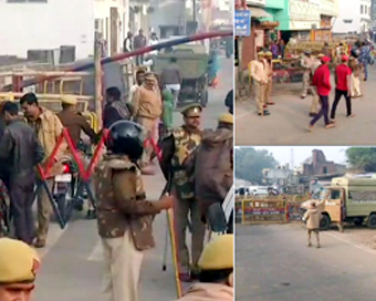 Heavy security in Ayodhya on Babri demotion