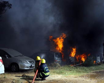 14 cars gutted in fire in Delhi