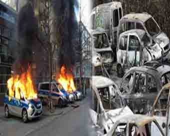 650 cars burnt on New Year in France