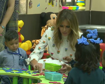 Melania shines at Happiness Class, Ivanka wears Anita Dongre for ceremonial