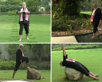 Modi shares fitness video on social media