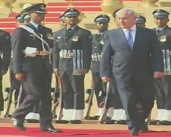 Israeli PM accorded ceremonial welcome