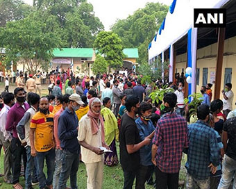 Impressive voter turnout in high-stakes assembly elections, highest in Assam