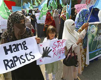 Protests in Pakistan after woman brutally raped in front of her own kids