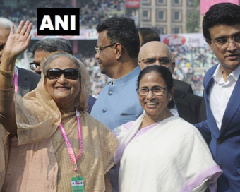 D/N Test: Hasina, Mamata ring customary Eden bell with Ganguly