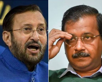 Spend on farmers, not ads: Javadekar hits back at AAP