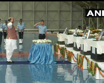 Defence Minister pays tribute to IAF personnel killed in AN-32 crash
