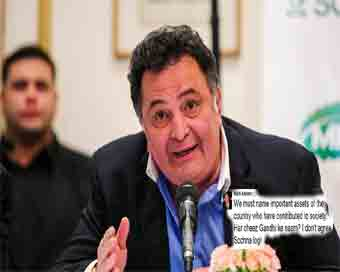 Stop naming public structures after politicians:Actor Rishi Kapoor at JLF