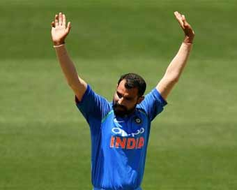 Shami fastest Indian to claim 100 ODI wickets