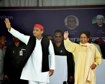 Akhilesh, Mayawati meet, assess post-poll scenario
