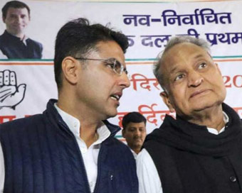 Rajasthan: Congress leaders meet Governor, stake claim to form government