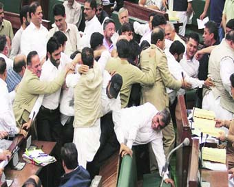 J&K assembly disrupted, both houses adjourned