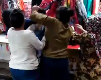 Woman thrashes girl for being called