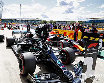 British GP: Lewis Hamilton storms to pole, Bottas second