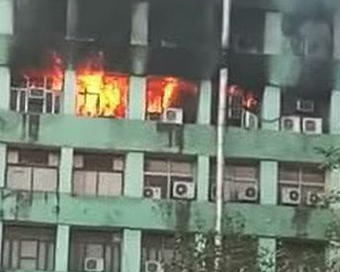 CISF officer dead in CGO Complex fire