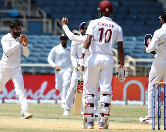 2nd Test: India thrash WI by 257 runs, win series 2-0