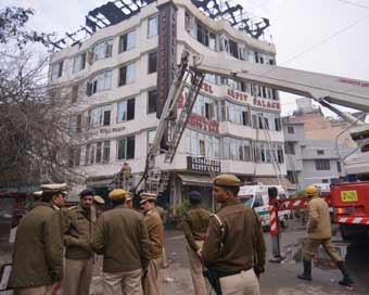 Delhi: Fire broke out at Karol Bagh hotel, 17 dead