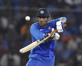 1st ODI: Jadhav, Dhoni star in India