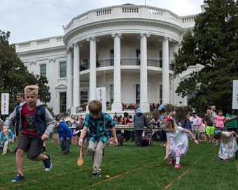 Trumps welcome 20,000 kids to White House Easter celebration