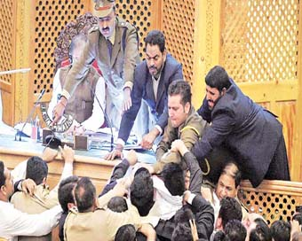 Opposition walks out of J&K council after ruckus