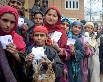 Voting underway for 7th phase of J&K panchayat polls