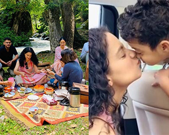 Kangana Ranaut picnics with family in Manali