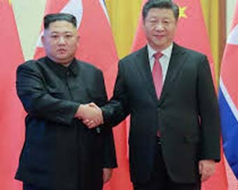 Xi arrives in N. Korea for summit with Kim