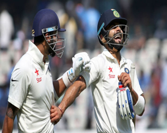 Kohli, Vijay tons take India to 356/3 vs Bangladesh