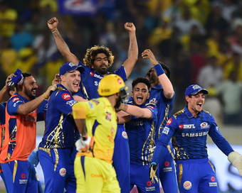 Mumbai lift fourth IPL title with 1-run win over CSK