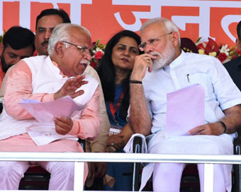 Modi sounds bugle for Haryana Assembly polls