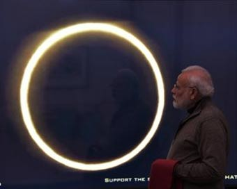 Solar Eclipse: Despite cloud cover in Delhi, PM