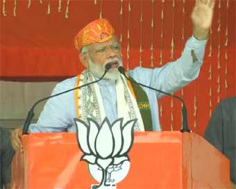 Support Chowkidar to end terrorism: Modi
