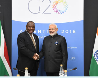 Cyril Ramaphosa to be India