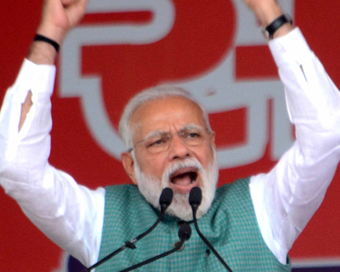 Congress and its allies demoralizing security forces by asking proof of air strikes in Pakistan: Modi