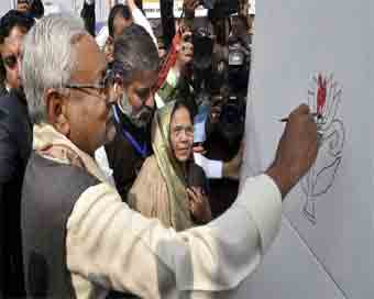 Nitish lends colour to \