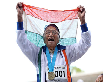 101-year-old Man Kaur bags gold in 100m event