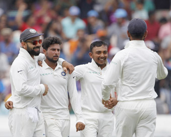 2nd Test: India crush West Indies by 10 wickets, win series 2-0