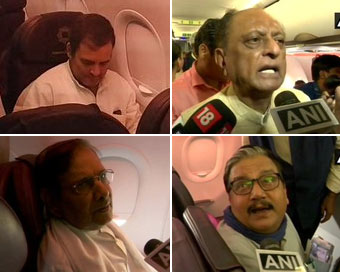 Opposition delegation boards flight to Srinagar