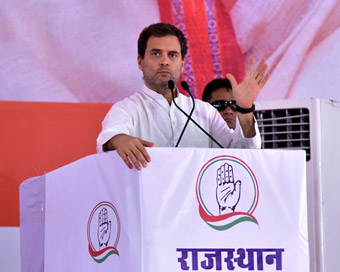 Rahul kicks off Rajasthan poll campaign with roadshow, attacks Modi