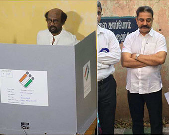 Puducherry, Tamil Nadu Elections: Rajinikanth, Kamal Haasan cast their votes