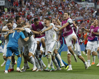 World Cup: Russia edge out Spain to enter QF