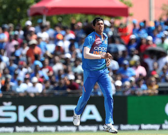 Saini stars on debut as India beat West Indies by four wickets