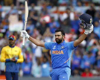 Rohit smashes 5th ton as India thrash Lanka by 7 wickets