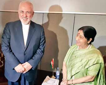 Sushma Swaraj, Iran Foreign Minister discuss US sanctions against Tehran