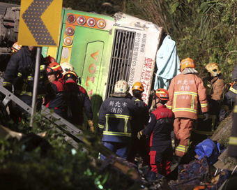 At least 32 killed in Taiwan bus crash