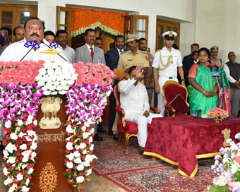 Telangana CM inducts son, nephew in cabinet