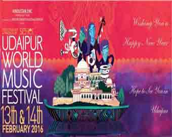 Udaipur World Music Festival to begin on February 10