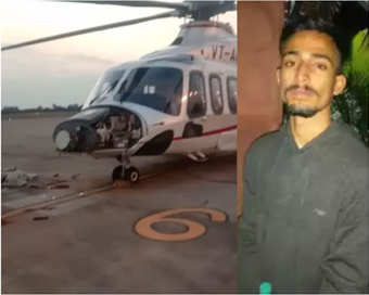 Bhopal airport: Youth rams into runway, vandalizes helicopter