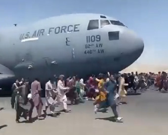Heartbreaking images from Kabul Airport as desperate residents try to escape Taliban rule in Afghanistan